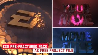 |Element 3D| Pre-Fractured object pack 100% Free |Tutorial|