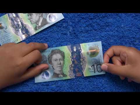 Lady on australian 10 dollar note