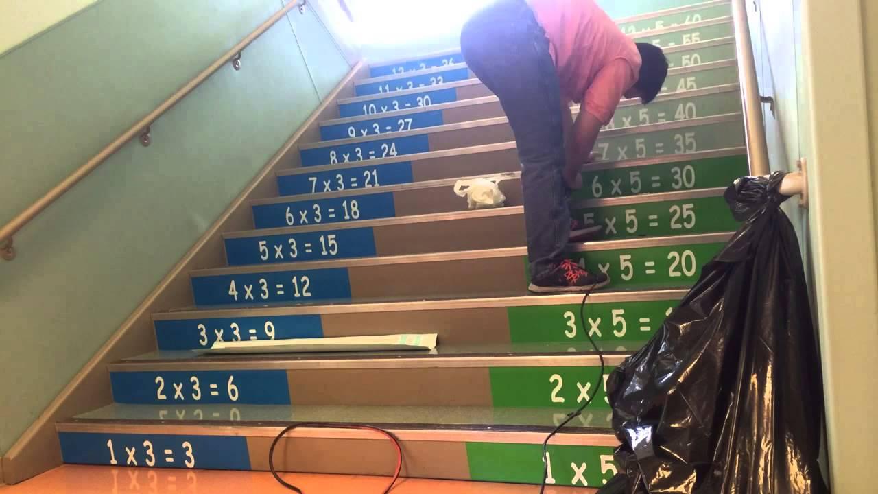Vinyl On Elementary School Stairs Youtube