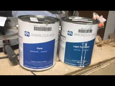 MPI #82 Amerlock 2/400 - 2  part epoxy marine coating goes over stain and lacquered Cabnits