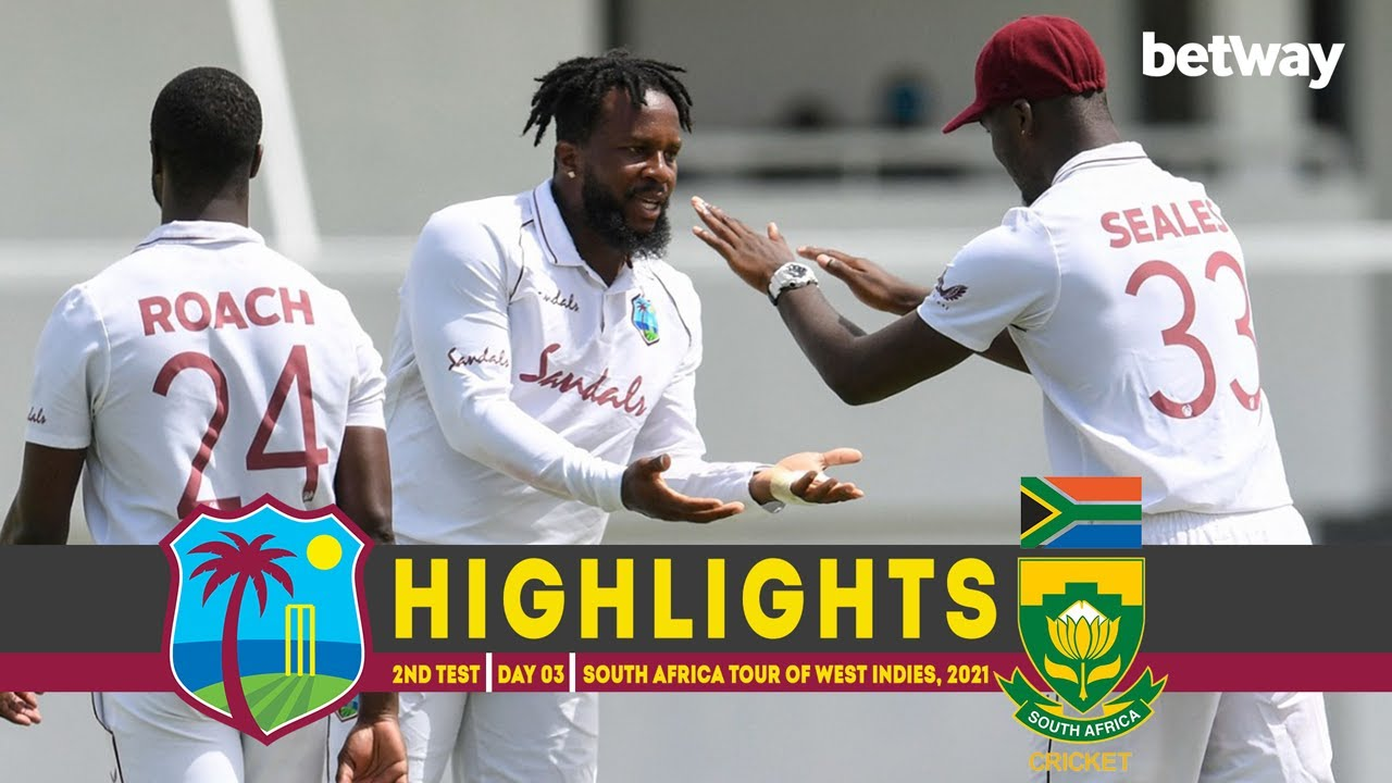 West Indies vs South Africa | 2nd Test | Day 03 | South Africa tour of West Indies, 2021