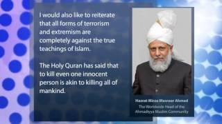 Hazrat Mirza Masroor Ahmad's statement on France attacks