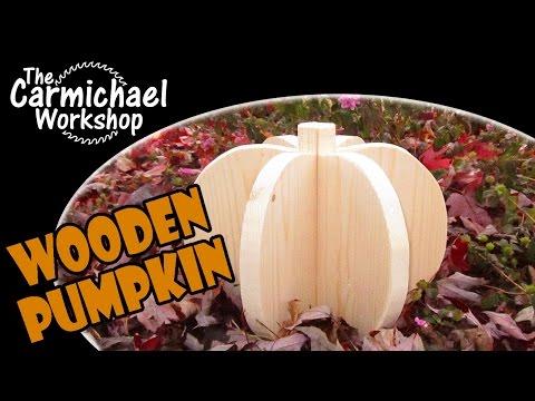 Make a Wooden Halloween Pumpkin - Woodworking Project