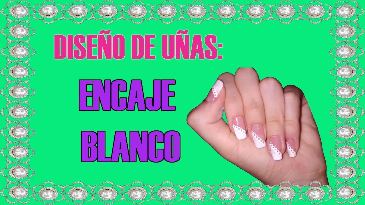 Diseño de uñas en FORMA DE ENCAJE | DIANA GUARIN - YouTube