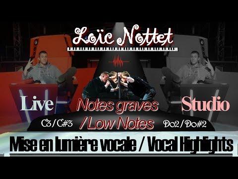 Loïc Nottet Low notes : (A2) - C3 - C#3 Live & Studio I Vocal Highlights