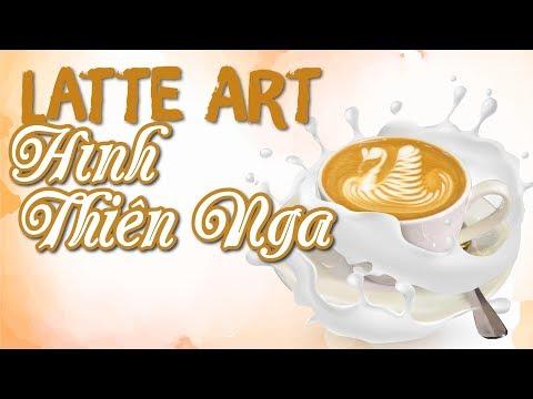 Tạo hình THIÊN NGA (Latte Art Swan) trên tách cà phê | Học Barista Cơ Bản