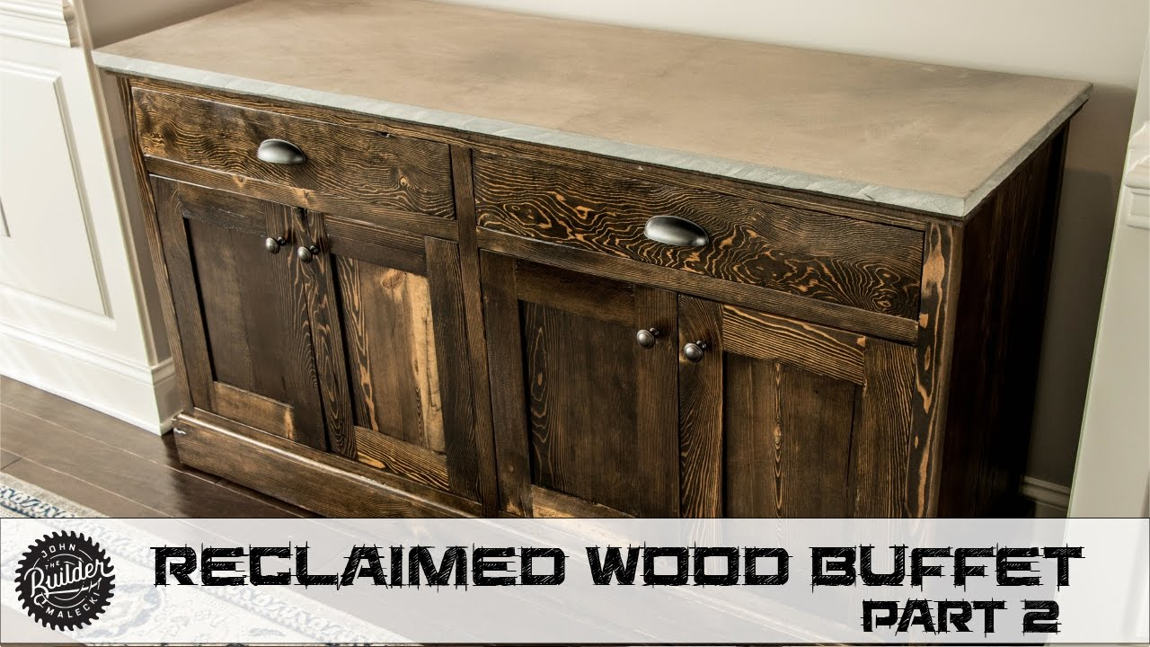 How To Build A Reclaimed Wood Buffet   Part 2