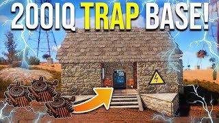 LURING PLAYERS into a 200IQ INVISIBLE PRESSURE PAD TRAP BASE - Rust Trap Base Gameplay