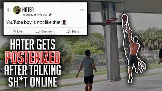 Internet TRASH TALKER Showed Up At The PARK & Got DUNKED ON!