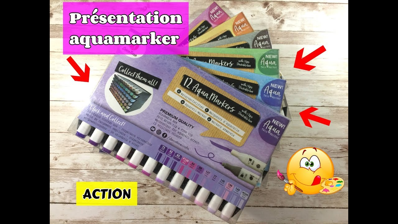Aquamarkers Decotime Action Presentation Youtube