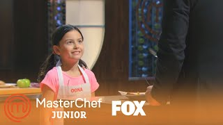 Oona's Spicy Pork Loin Tasting | Season 2 Ep. 1 | MASTERCHEF JUNIOR