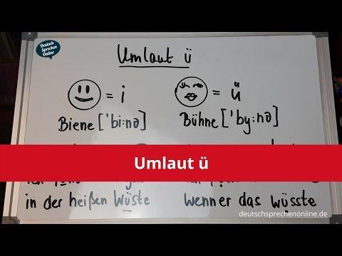 Deutsch: Aussprache Umlaut ü