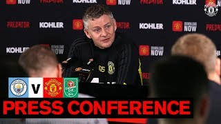 Manager's Press Conference | Man City v Manchester United | Carabao Cup
