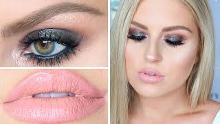 grwm sexy duo chrome makeup smokey eyes nude lips