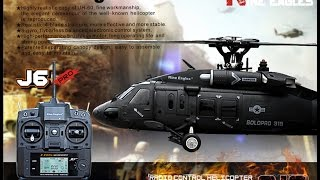 ec hobbycom rtf uh 60 blackhawk realistic rc helicopter nine eagles solo pro 319 6 ch helicopter