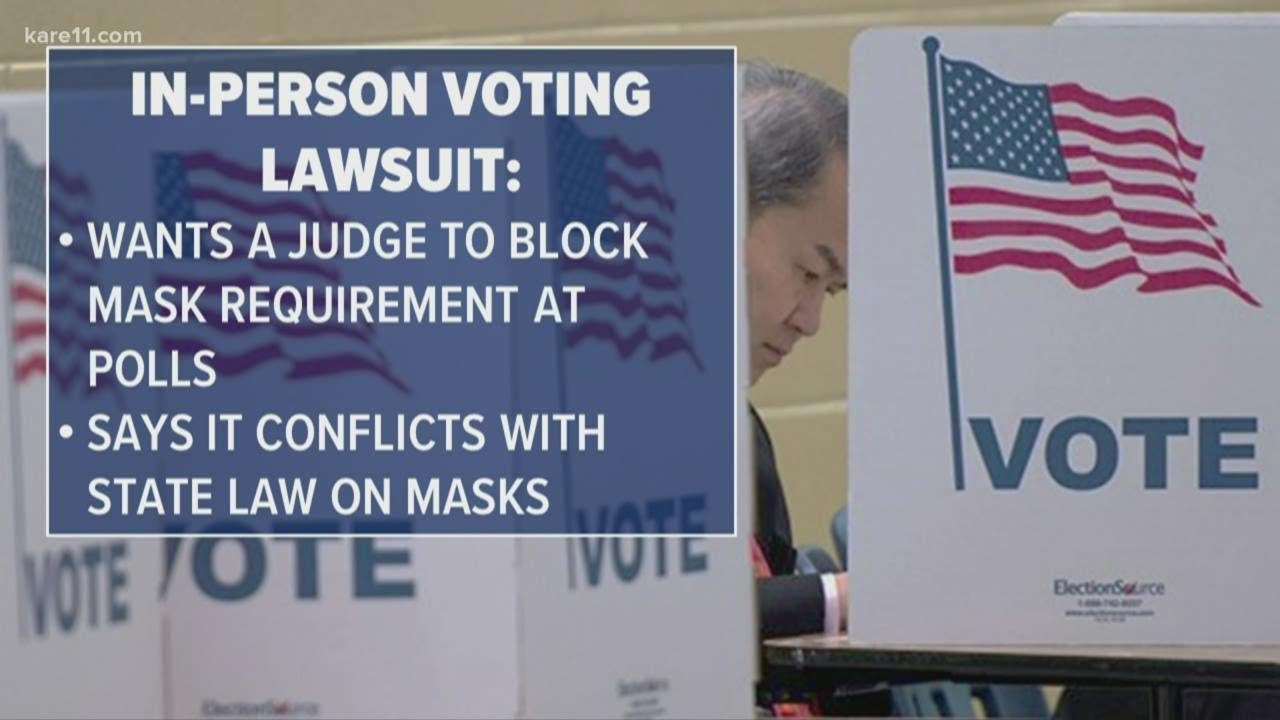 Voters sue Gov. Walz administration over face masks at polling places