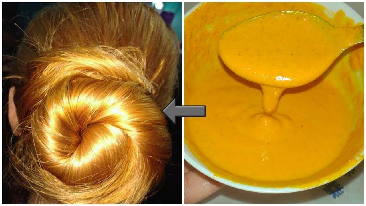 صباغة طبيعية بالكركم لعشاق شعر أشقر ذهبي طبيعي مئة بالمئة