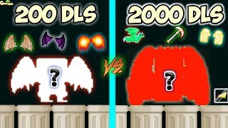 200 Dls Vs 2000 Dls Set Challenge !! (Free Davinci Dup.) | GrowTopia