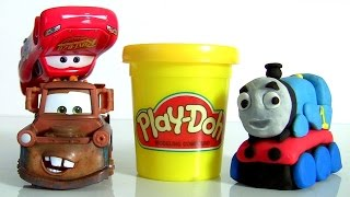 Thomas the Train Claymation Animation Play Doh Disney Cars Mater McQueen Stop Motion Clay Animation