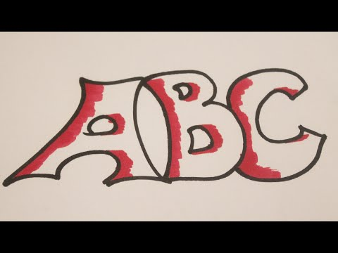 Como dibujar letras bonitas