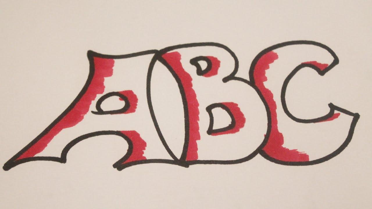 Como Dibujar Letras Bonitas Youtube