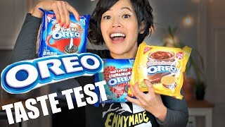 OREO Taste Test TAMPERED PACKAGE?! - Hot & Spicy CINNAMON, Cookie Butter, Chocolate Hazelnut