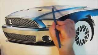 ZWOOKIEZ #30 Speed Drawing a Shelby Cobra