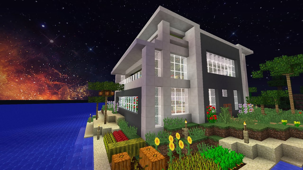 Minecraft house design mansion on an island youtube - Minecraft design house ...