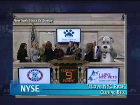 I Love NYC Pets Month Closing Bell on NYSE