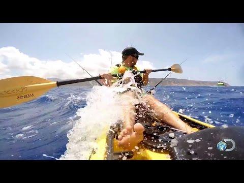 Getting A Dangerous Taste Of Hawaiian Kayak Fishing