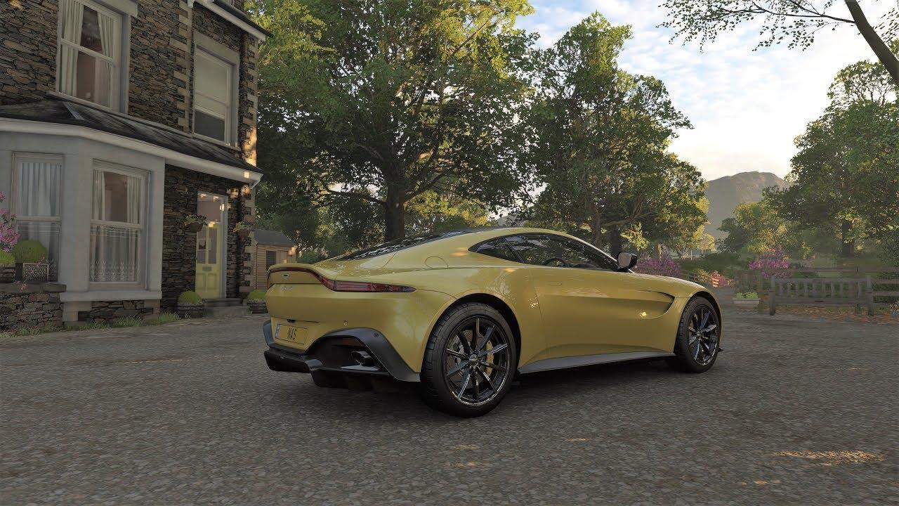 "forza horizon 4 aston martin vantage 2018 ""dlc car"" [4k] gameplay"