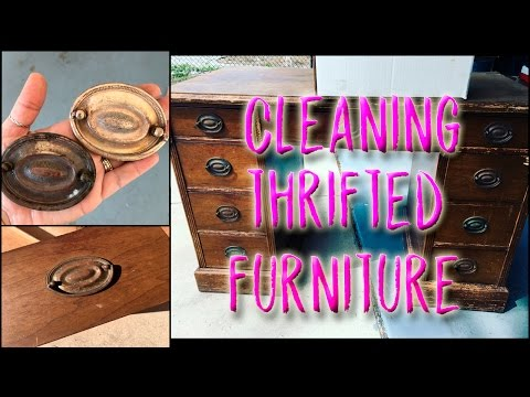 Cleaning the hardware on thrifted or free furniture & other Metals :)