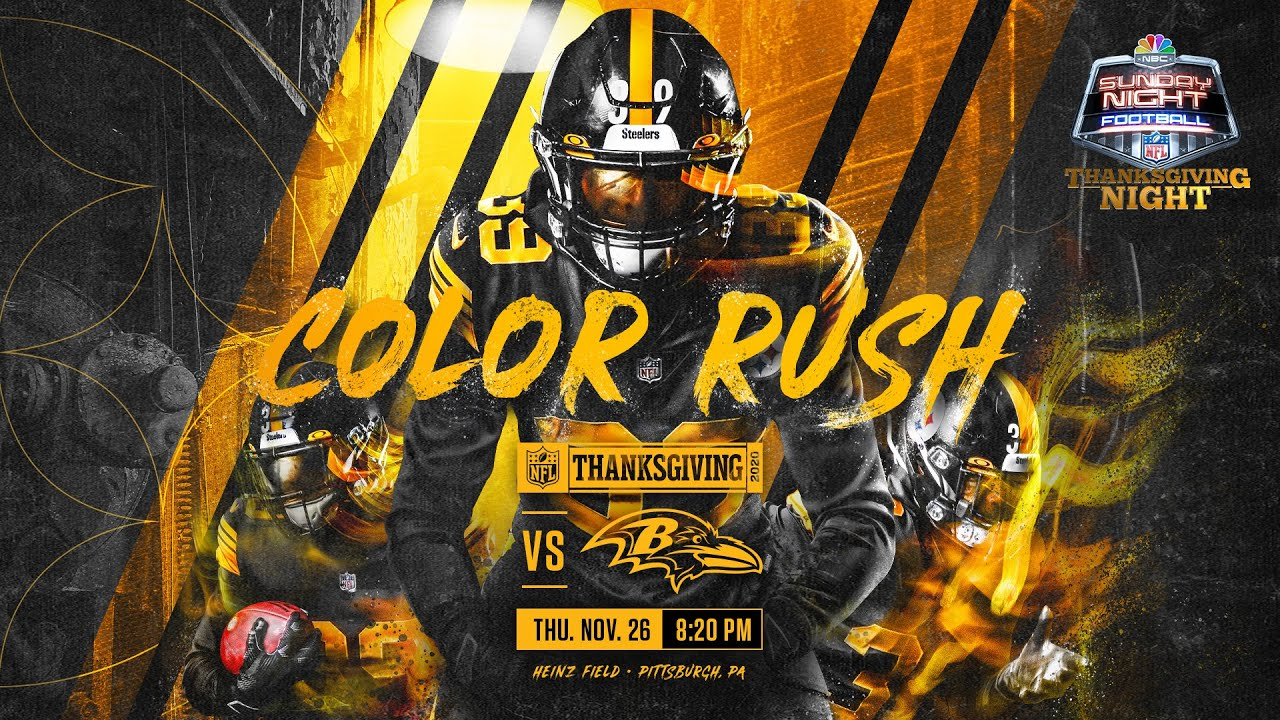 BREAKING: Pittsburgh Steelers will wear Color Rush jerseys vs Baltimore Ravens on Thanksgiving
