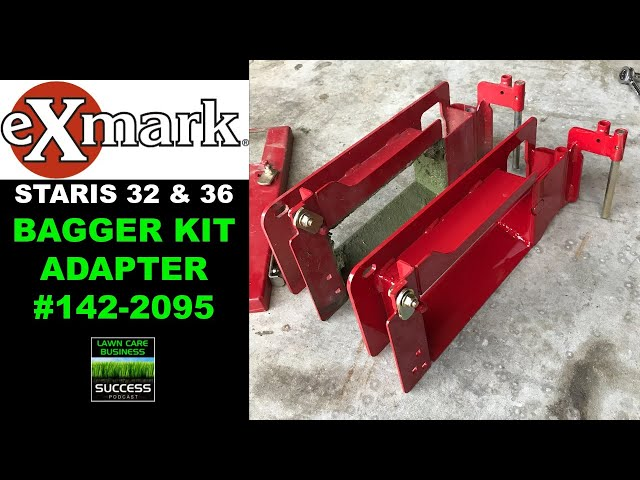 New Redesigned Exmark Staris 32 & 36 Factory Bagger Adapter Part # 142-2095