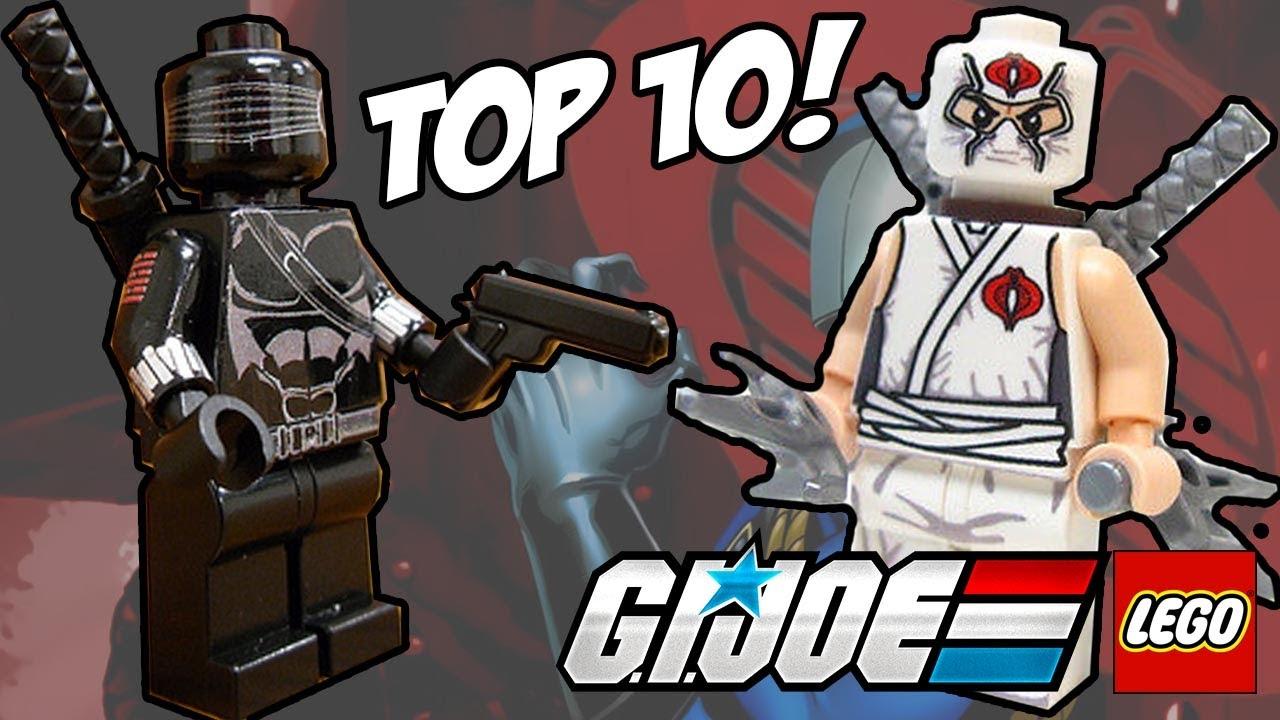 My custom lego gi joe minifigs - YouTube