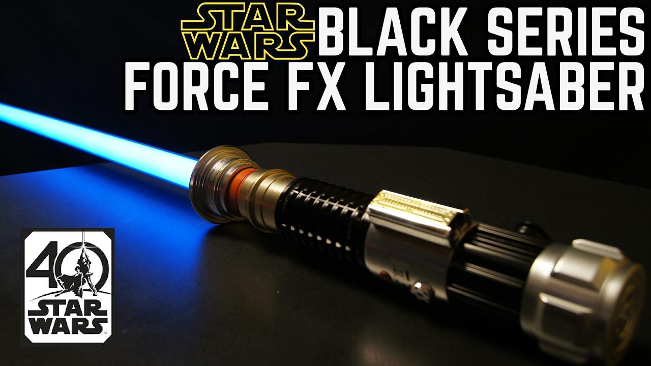 Star Wars Black Series Force Fx Lightsaber Obi Wan Kenobi Review Youtube