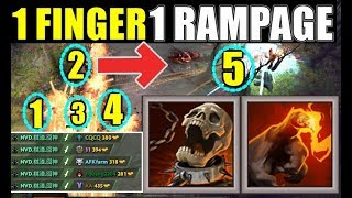 One Shot Finger RAMPAGE | Dota 2 Ability Draft
