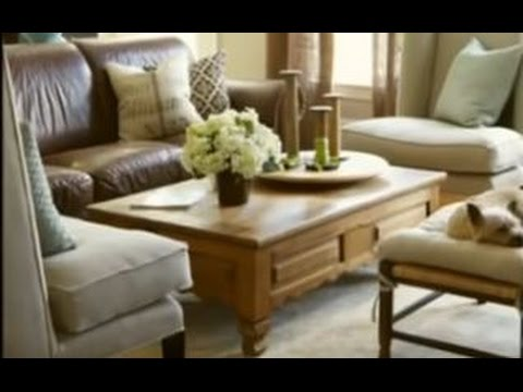 Living Room Decorating Ideas Leather Couches Paint For Colors Help Me Bhg How Do I Lighten Up My Brown Sofa Youtube