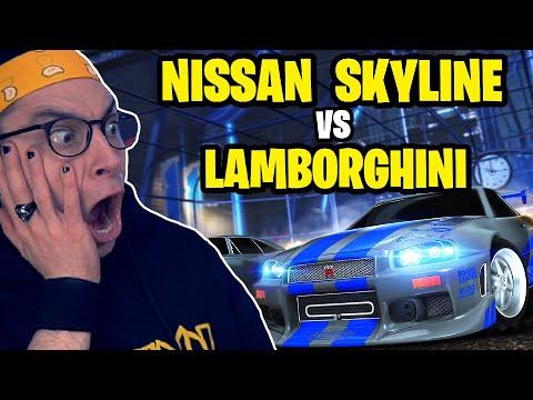 LAMBORGHINI VS SKYLINE NISSAN su ROCKET LEAGUE *epico*