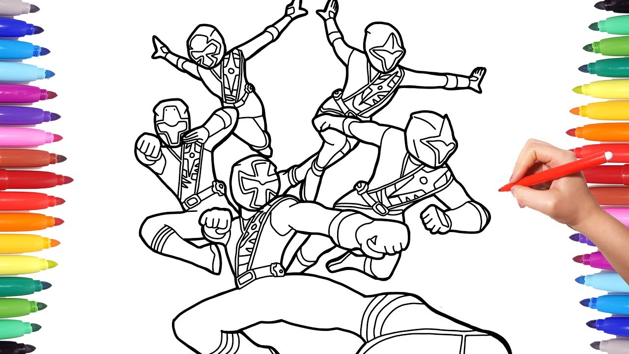 power rangers steel coloring pages coloring power