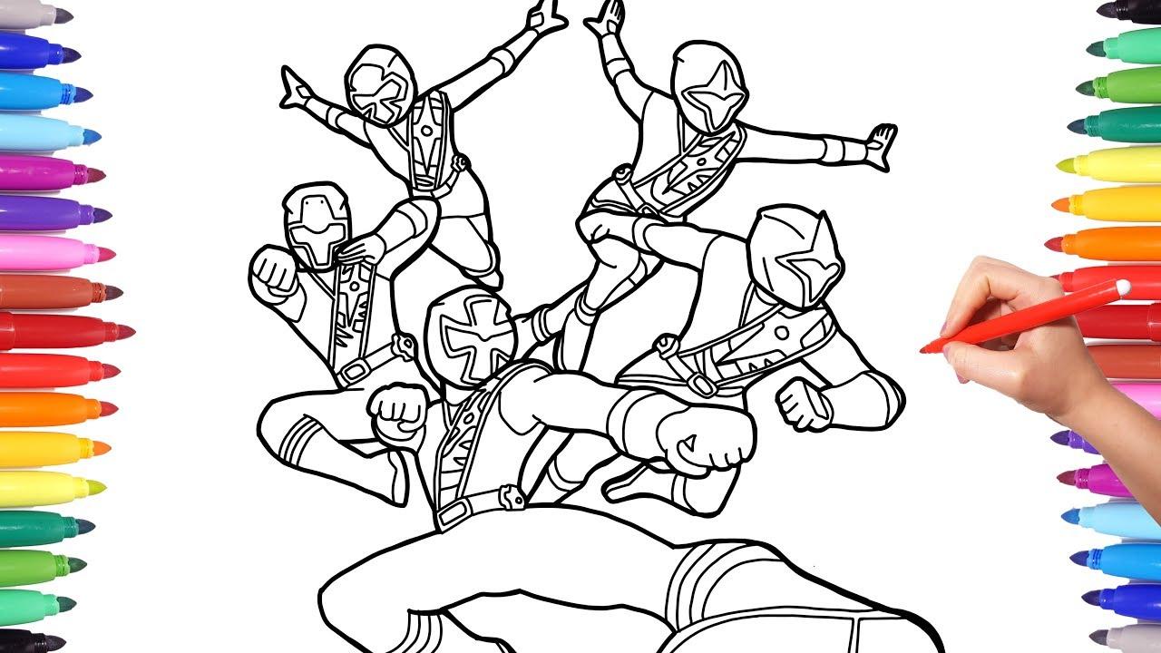 Power Rangers Ninja Steel Coloring Pages, Coloring Power Rangers ...