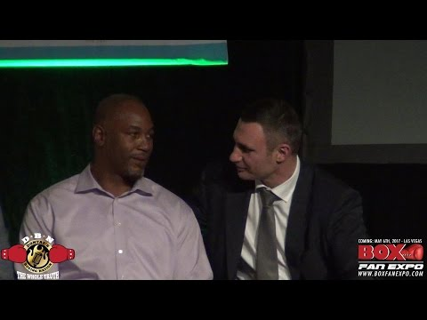 VITALI KLITSCHKO & LENNOX LEWIS REUNITE AND LEWIS TELLS GREAT BOXING STORY