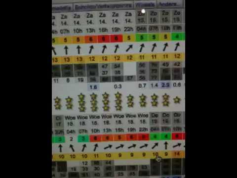 2009: Beetje wind volgens WindGuru