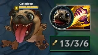 NEW DOG IN THE JUNGLE? S+ PUG'MAW JUNGLE GOD! (KOG'MAW SKIN) - PBE League of Legends Commentary