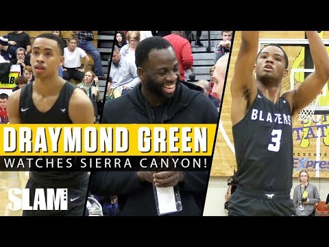 Draymond Green Watches Cassius Stanley & Sierra Canyon Go Off! 😈