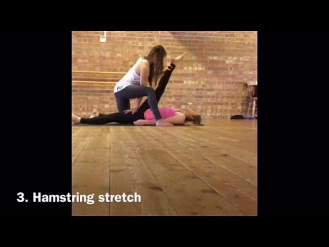 top 4 partner leg stretches to get your splits  youtube