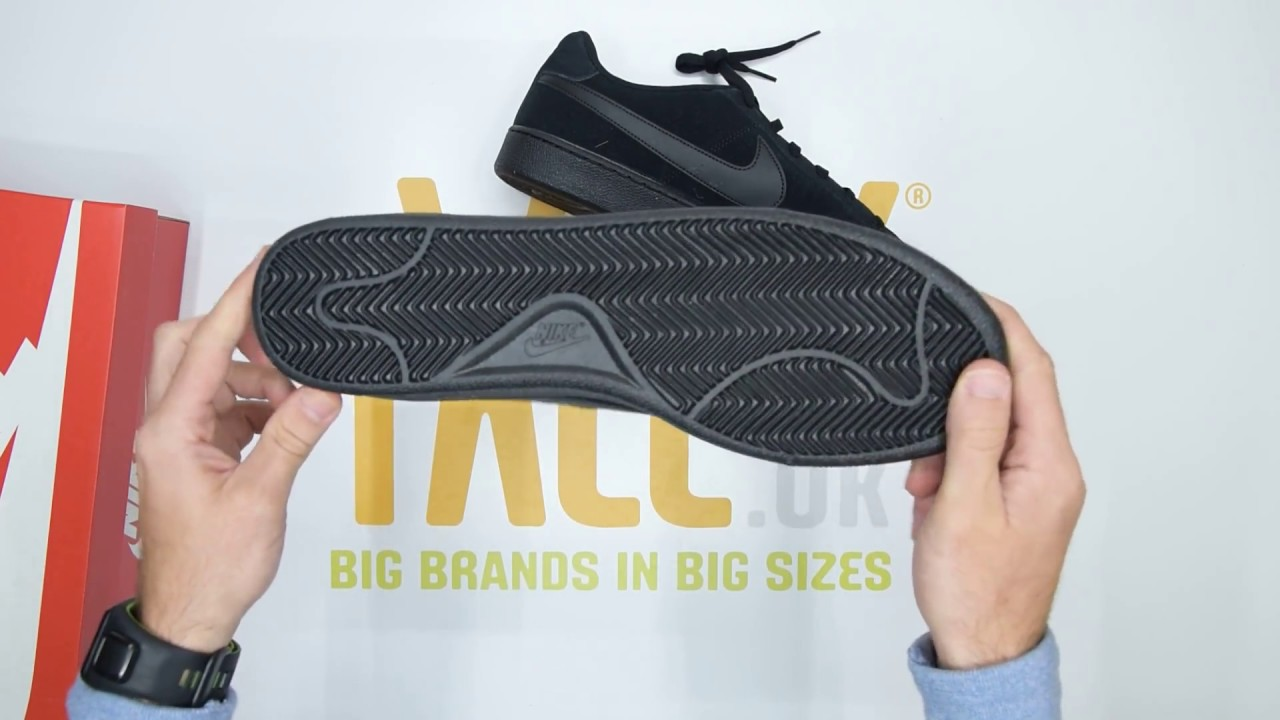new styles e93c4 20705 Nike Court Royale Suede - Black - Unboxing   Walktall