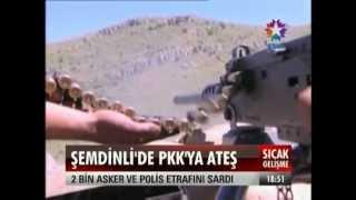 Hakkari`de Yol kesen 15 PKK li Terörist gebertildi  ve Güvenlik Zivresi