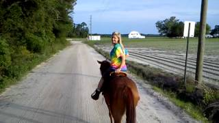 My girlfriend riding perky