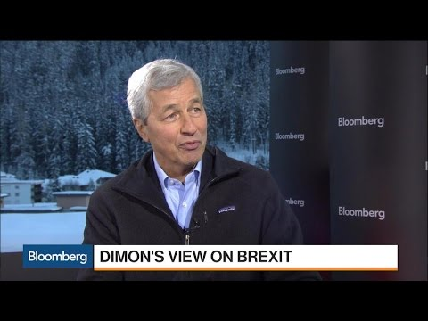 Jamie Dimon Says There Will Be More Job Movement From Brexit Than Hoped For